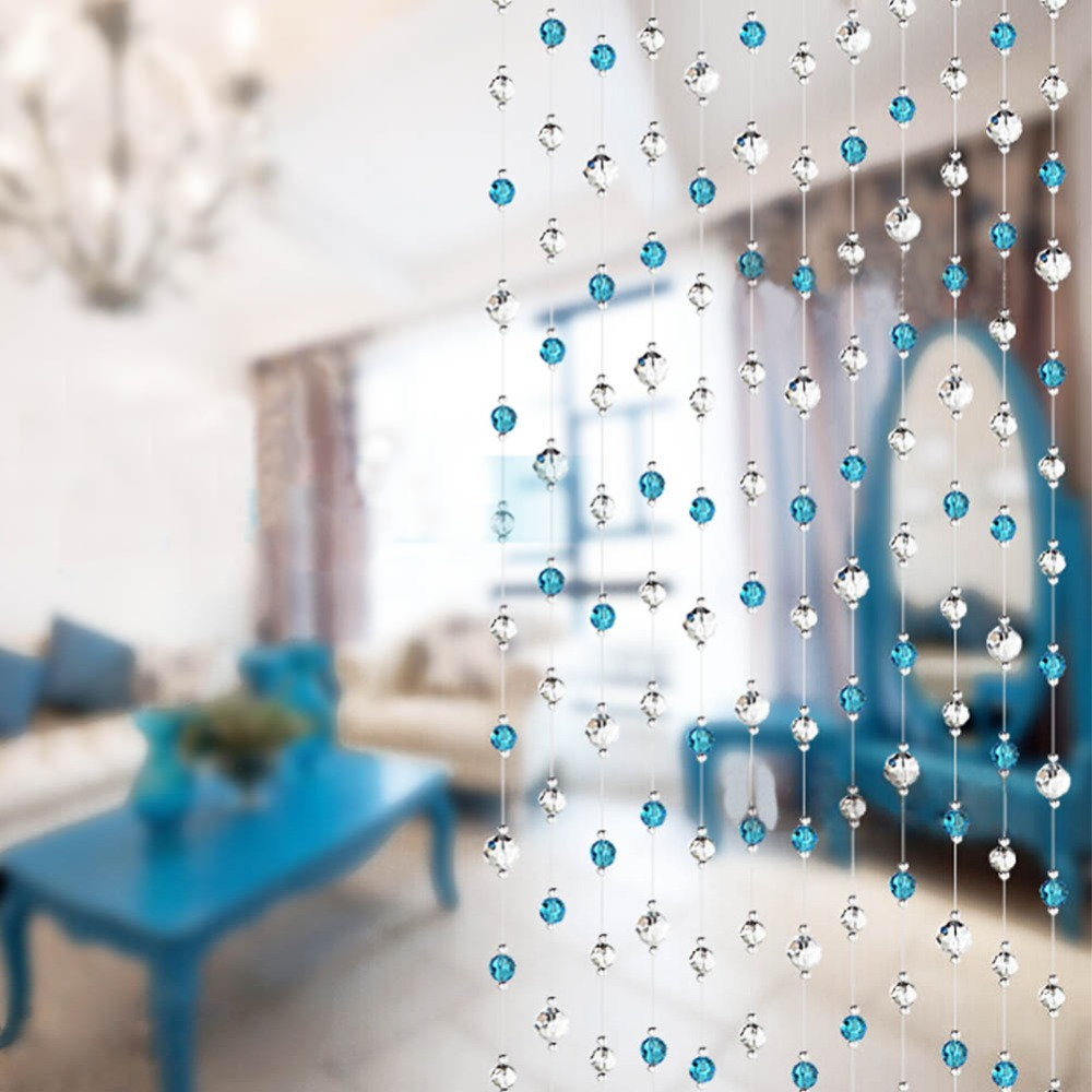 Free Shipping Wedding DIY Decor Diamond Acrylic Crystal Beads Curtain Strand Garland Window Scarfs Curtain(China (Mainland))