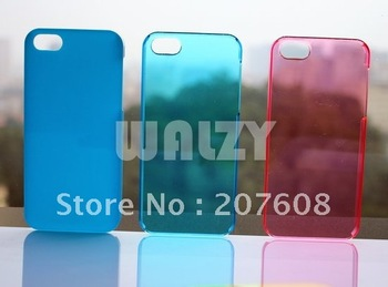 Transparency Clear Crystal Hard Plastic Back Cover Case foriPhone 5 5G+1050pcs/lot