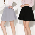 New Womens Miniskirt Autumn Fashion Slim Pleated Short Skirts Black Gray Pink Cute Skater Skirt Female