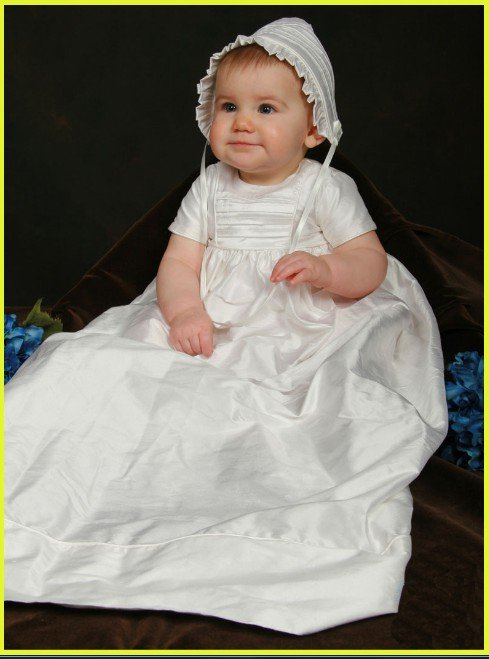 DHL Free shipping Cotton Christening dress&baby dress&Christening gown(China (Mainland))