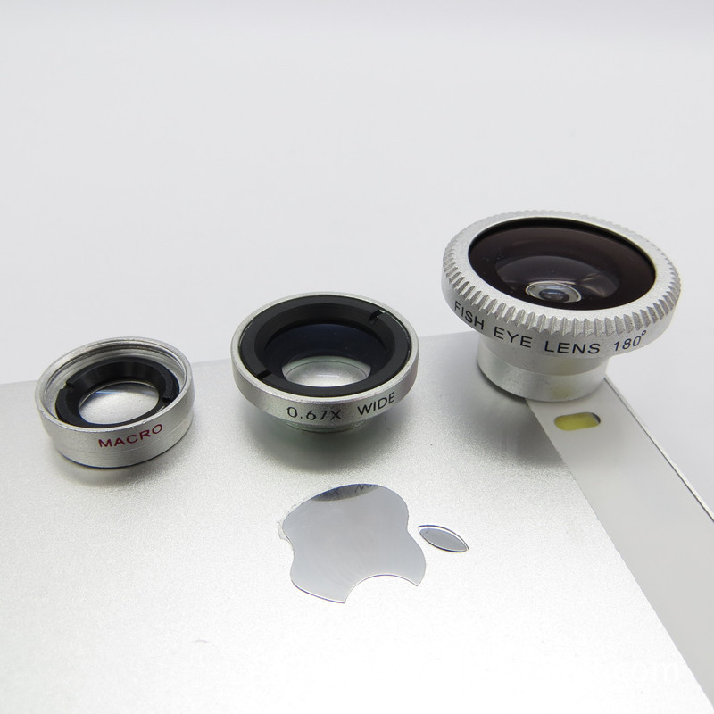 Freeshipping  3in1 Magnetic Fisheye fish eye Lens + Wide Angle + Macro Mobile Phone Lens for iPhone ,Samsung   All Smartphone