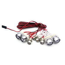 G.T.POWER Red/ White Color 8 LED Light System for RC Car Truck Model RC Headlight Taillight Upgrade Parts(China (Mainland))