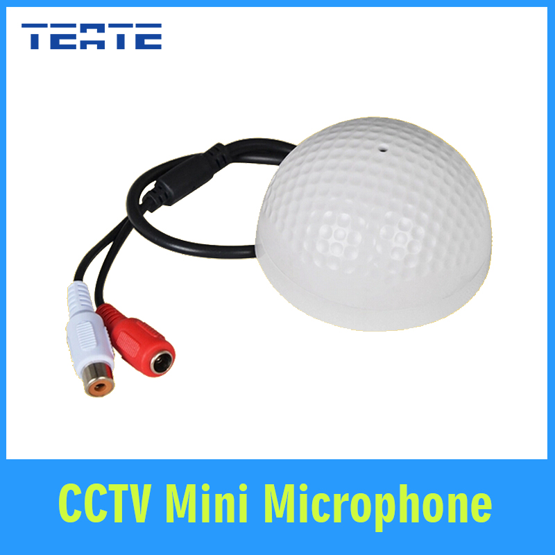 TEATE CCTV Mini Audio MIC in Wide Range Slim Microphone voice sound pick up device for Security camera DVR system TET-G06CAB(China (Mainland))