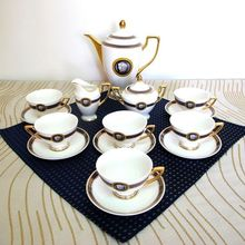 Housewarming / wedding gift 15 pieces bone china coffee cup and saucer suit ceramic tea set porcelain coffee set