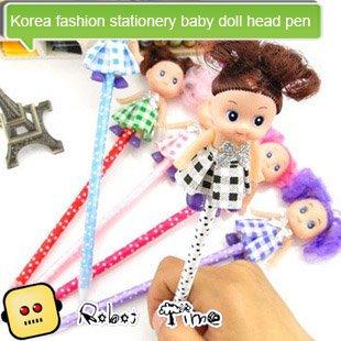 Корейская мода канцтовары кукла голова ручки творческий мультфильм подарок