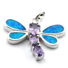 opal jewelry with cz stone;fashion opal pendant Mexican fire opal pendant The latest fashions   OP161B-4