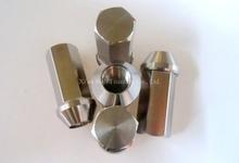 Titanium TC4 GR5 Car Wheel Rim Universal Full Hex Nuts Bolts 12x1.25x45mm / 12X1.5X45mm 38g/pc can be Jack-hammer Handling(China (Mainland))
