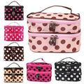 New Arrival Portable Women Lady 2 Layers Cosmetic Set Beauty Case Toiletry Bag Free Shippingfree shipping