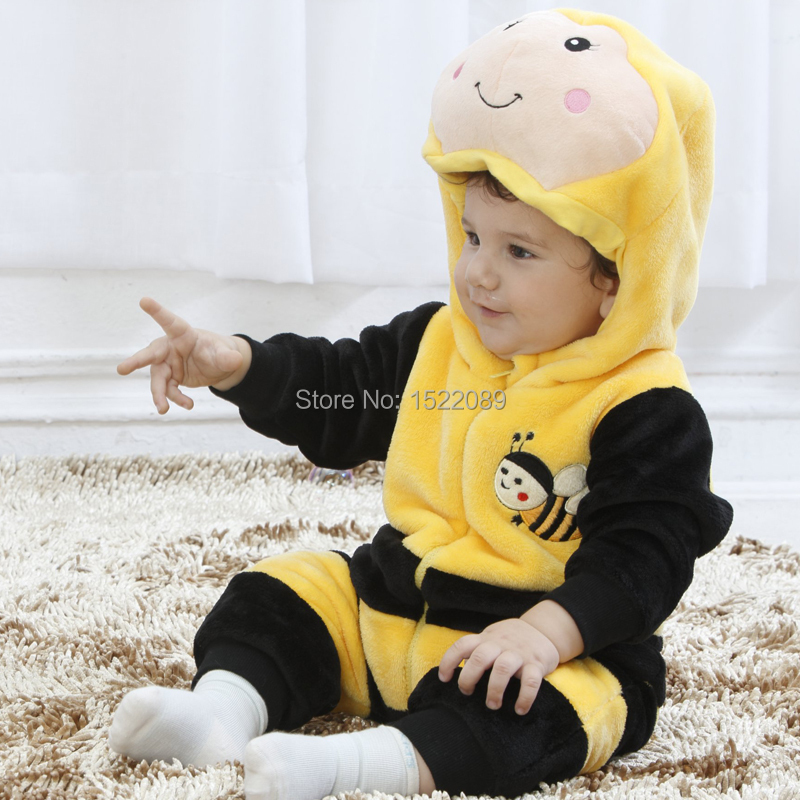 freeshipping halloween Costume Child autumn winter Clothing Jumpsuit spring & autumn animal style romper baby gift box set(China (Mainland))