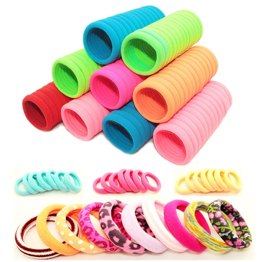 40pcs/lot 2-3cm Hair Accessories Scrunchy Elastic Hair Bands baby Girls decorations Headdress acessorios Gum for hair ties(China (Mainland))