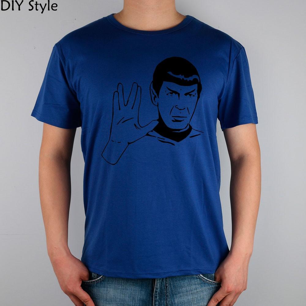 LIVE LONG AND PROSPER SPOCK STAR TREK men short sleeve T-shirt new arrival Fashion Brand t shirt for men  HTB1FnpmMpXXXXXWaXXXq6xXFXXXA