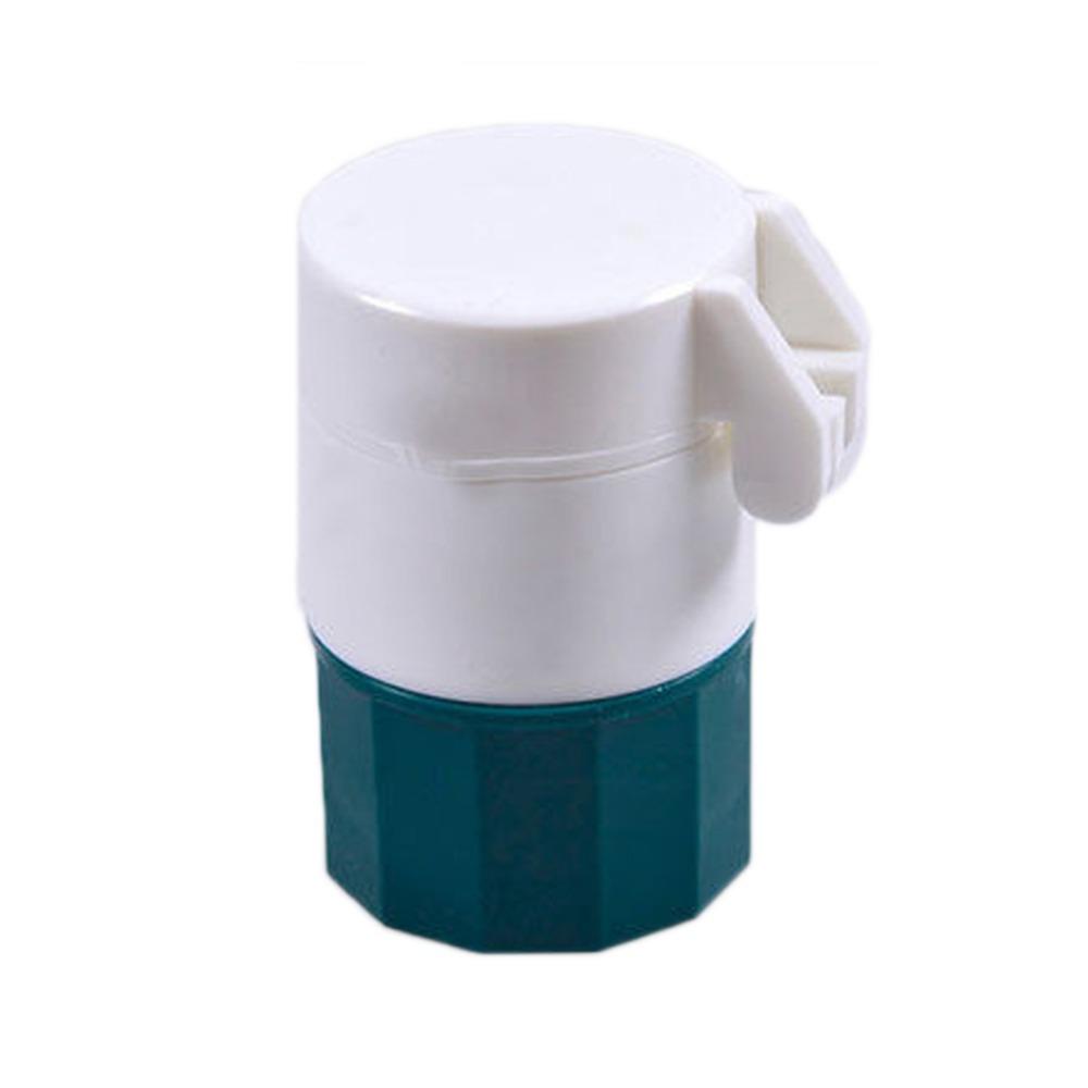 Fashion Effective Pill Crusher Grinder Splitter Storage Pill Box Tablet Divider Color Green HB-0136