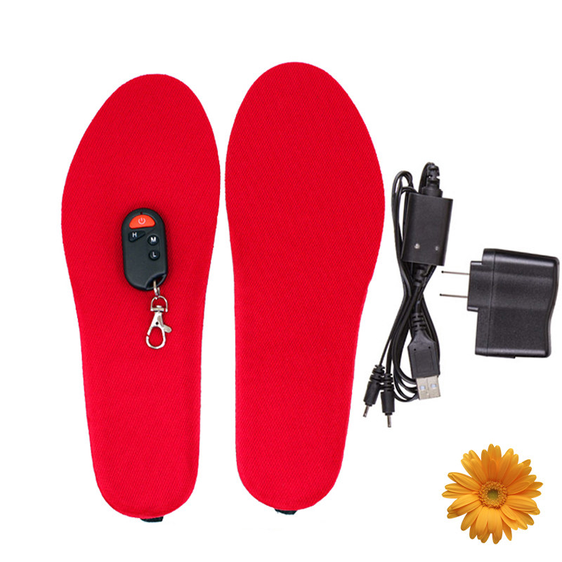 Winter Sports Ski Snow Boots Needed Electric Foot Warmer Wireless Thermal Insoles Heated for Shoes 3.7V 1800mAh NEW (BLACK/RED)(China (Mainland))