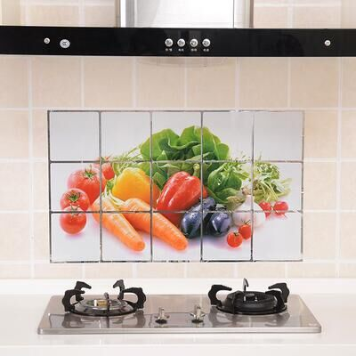 Cc001 75 45cm Kitchen Wall Stickers Foil Oil Sticker Decal Home