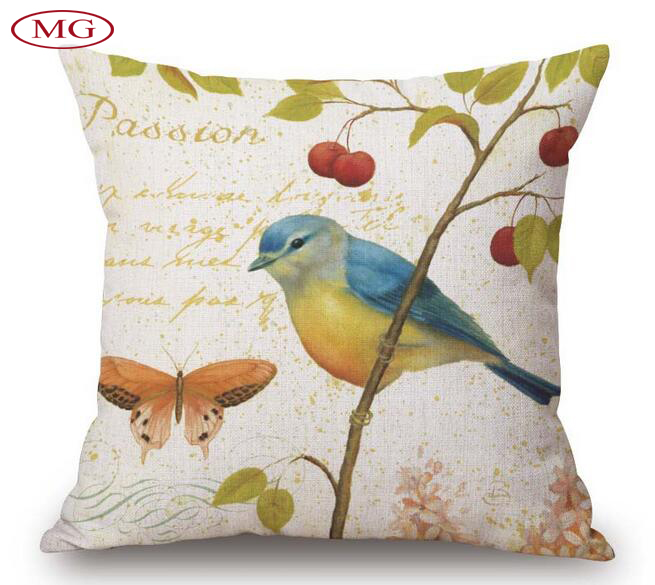 Painting Of Flowers And Birds Cushion Home Car Throw Pillows New Arrivel Brand Cushions Funda Cojines