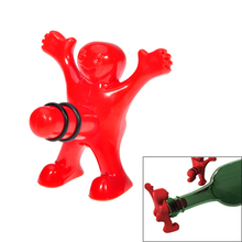 Creative Sex Man  Wine Accessories Sealed Wine Bottle Stopper Red for the Bar Kitchen