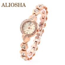 Aliosha marca JW relojes mujer vestir Crystal Ladies relojes del cuarzo caja oro de acrílico de la correa reloj de pulsera de diamantes para la muchacha