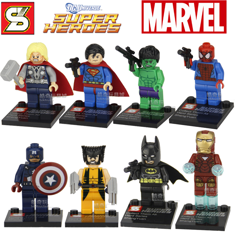 Super Heroes Avengers Iron Man Hulk Batman Thor Building Blocks Sets Minifigure Toys Bricks toys Lego Compatible - Monkey king on line store