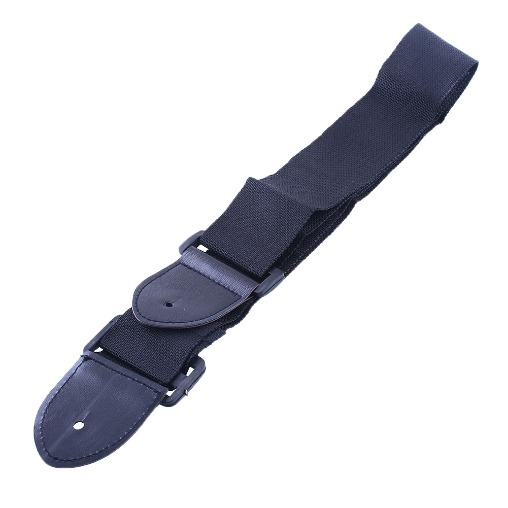 Free shipping Black Adjustable Leather Ends Guitar Strap Electric Acoustic Guitar Durable GYH(China (Mainland))