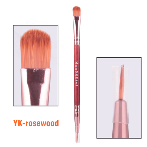 two function double head eyeliner brush 1piece makeup brush cosmetics tools eyeshadow brush hand to make up beauty looking(China (Mainland))