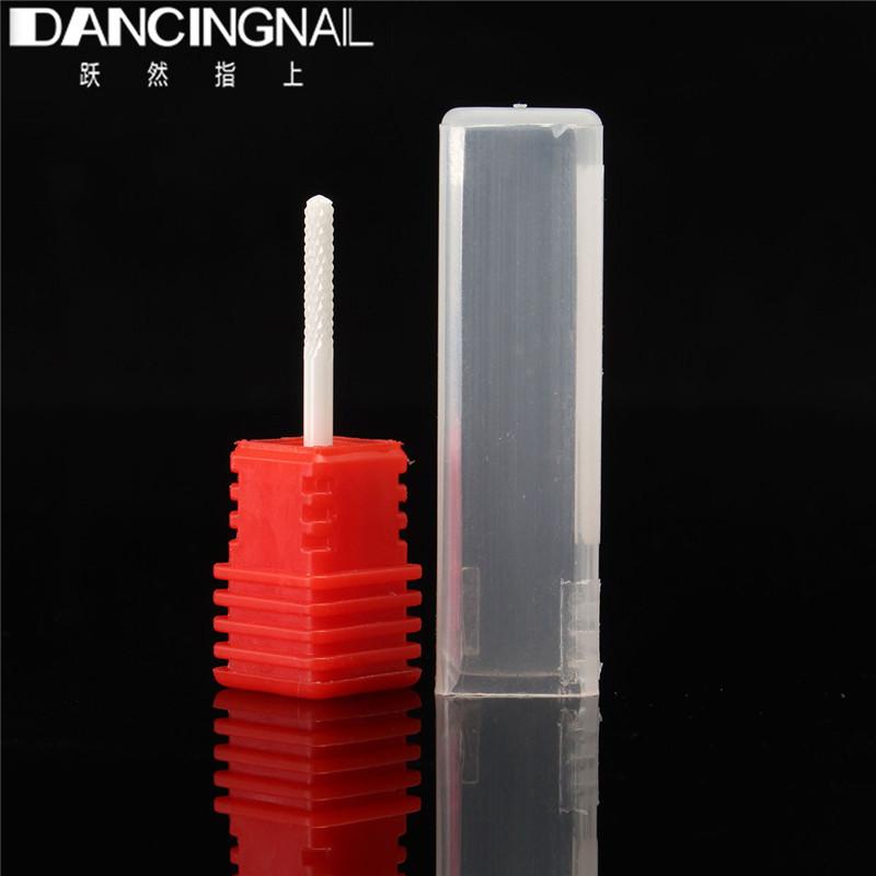 "New 1pcs 3/32"" Small Barrel Ball Ceramic Nail Drill Bits Pedicure Electric Manicure Drills Machine Accessories Polish Clean Nail(China (Mainland))"