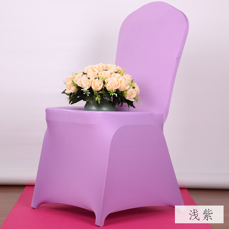 Sale New Style Cute Lilac Polyester Spandex Dining Chair Covers For Wedding Party Chair Cover Brown Dining Chair Seat Covers(China (Mainland))