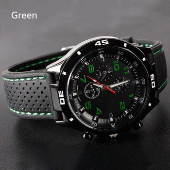 Мужская женщины кремния спортивные наручные часы мода мужская гонщик спорт военный летчик авиатор армия стиль унисекс 6 цвета часы