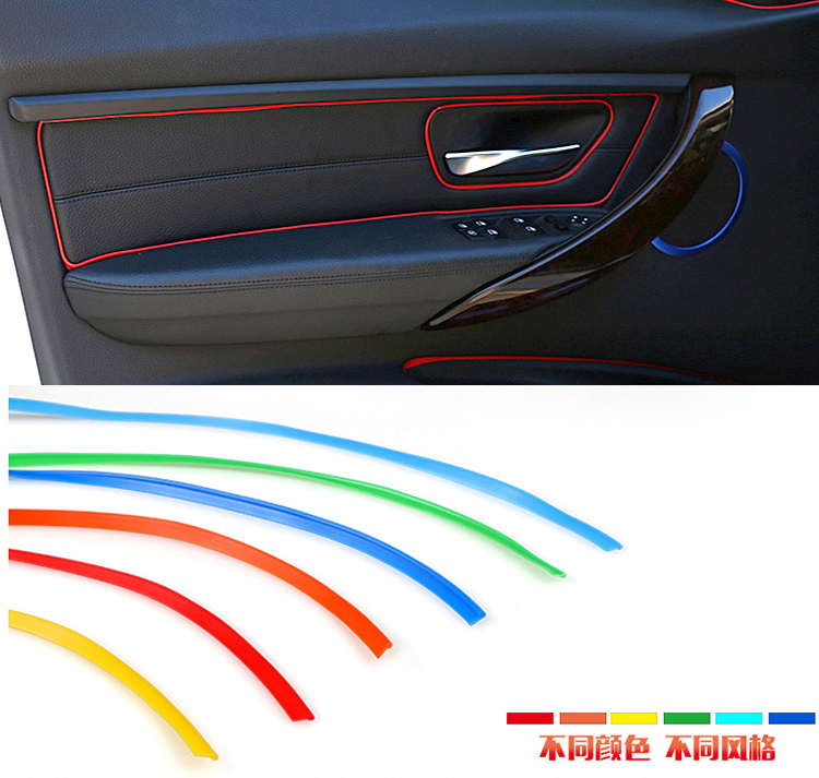 3m car styling diy universal cold line flexible interior decoration moulding trim strips 12. Black Bedroom Furniture Sets. Home Design Ideas