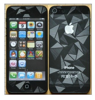 Free Shipping Wholesale 20pcs/lot Front&back full body 3D Diamond screen protector for iphone 5 5g 5th with retail package