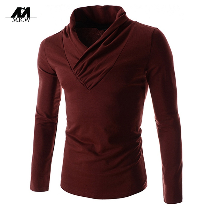 Hot sale men t shirt 100 cotton mens t shirt fashion v for Mens long sleeve t shirts sale