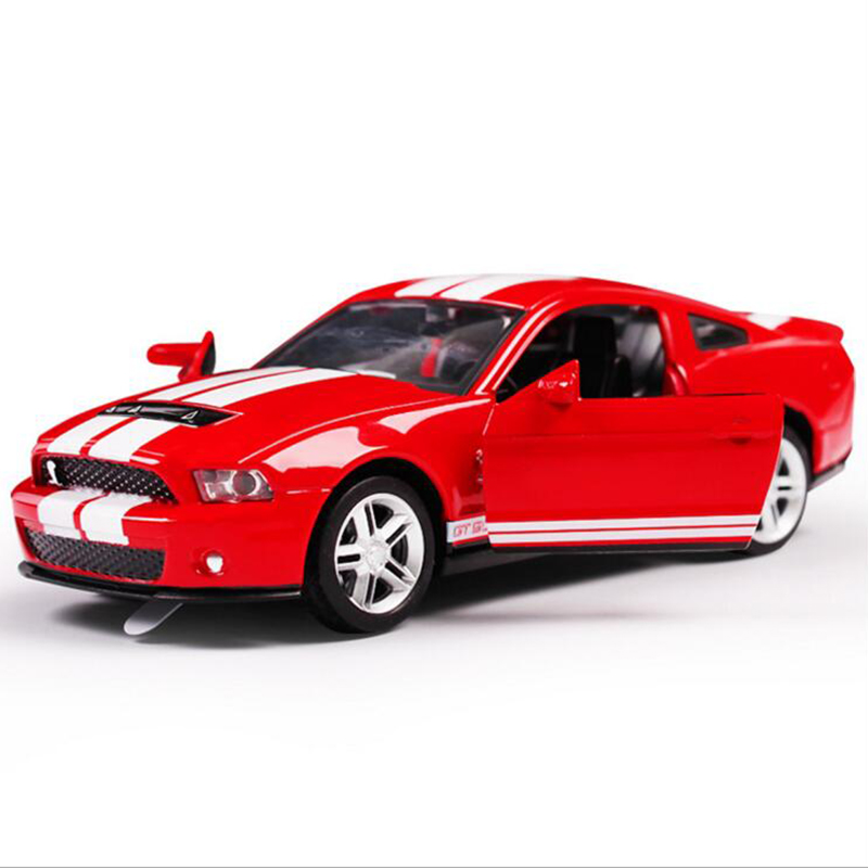 2016 the Ford Mustang 1:32 children's toys emulation car model sound and light alloy car back to power car model free shipping(China (Mainland))