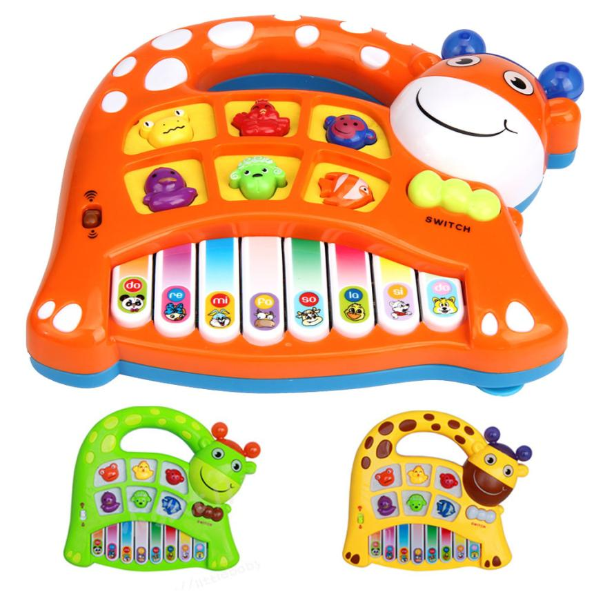 Baby Kids Musical Educational Animal Farm Piano Developmental Toy Musical Instrument Hot Sale Krystal(China (Mainland))