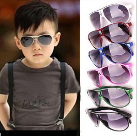 Розничная новинка ребенок прохладный солнцезащитные очки детская мальчики детей пластиковая ...