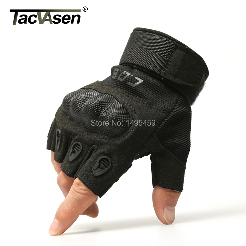 Outdoor Army tactical gloves semi-finger Carbon fiber shell slip-resistant gloves military combat gloves(China (Mainland))