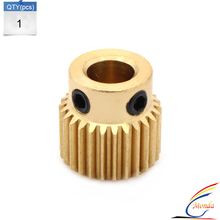 Freeshipping!!! High Quality 1PCS 3D Printer Extrusion Wheel Special Brass Extrusion wheel 26 Tooth Gear for Extruder filaments