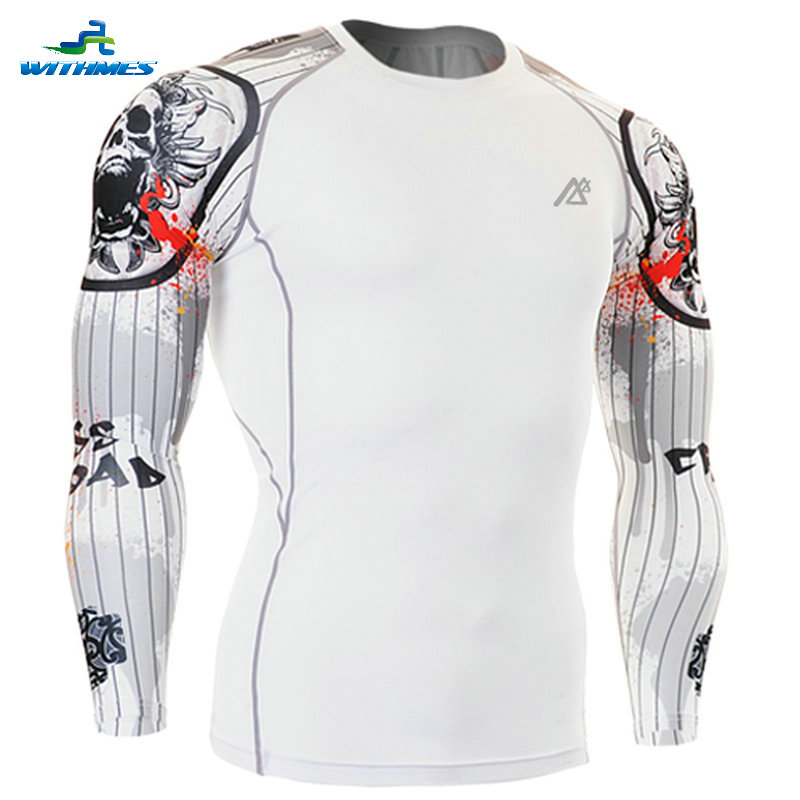 CPD-W9 Slim South Korea Tight Baseball Jerseys Badminton T Shirts Long Triathlon Men's Tee Compression Camping Shooting Tops(China (Mainland))