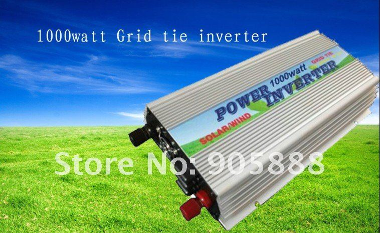 2012 NEW!! 1000W/1KW Grid tie inverter ,Solar Grid tie inverter,DC10.5~28V to AC180V~260V (CP-GTI-1000W)(China (Mainland))