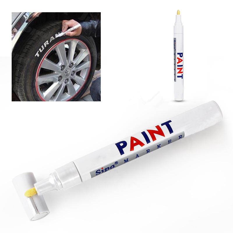 1 Pcs Waterproof Mending Car Paiting Remover Scratch Repairment Permanent Marker Pen Car Tyre Tire Tread Rubber Metal SA490 P63(China (Mainland))