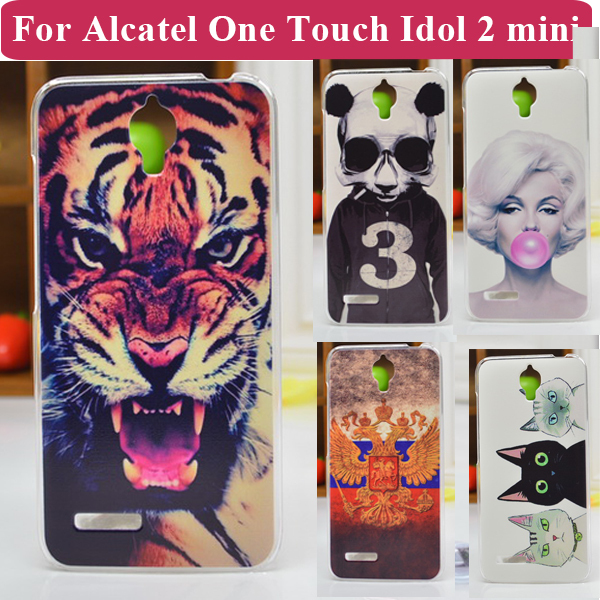New Fashion Cell Phone Case For Alcatel One Touch Idol 2 mini Back Cover OT6016 6016D 6016A 6016E 6016X Free Shipping(China (Mainland))