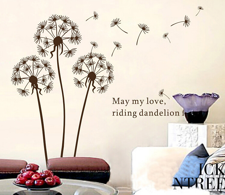 The wind dandelion wall stick to the sitting room tv wall restaurant decorative background of - Show pics of decorative sitting rooms ...