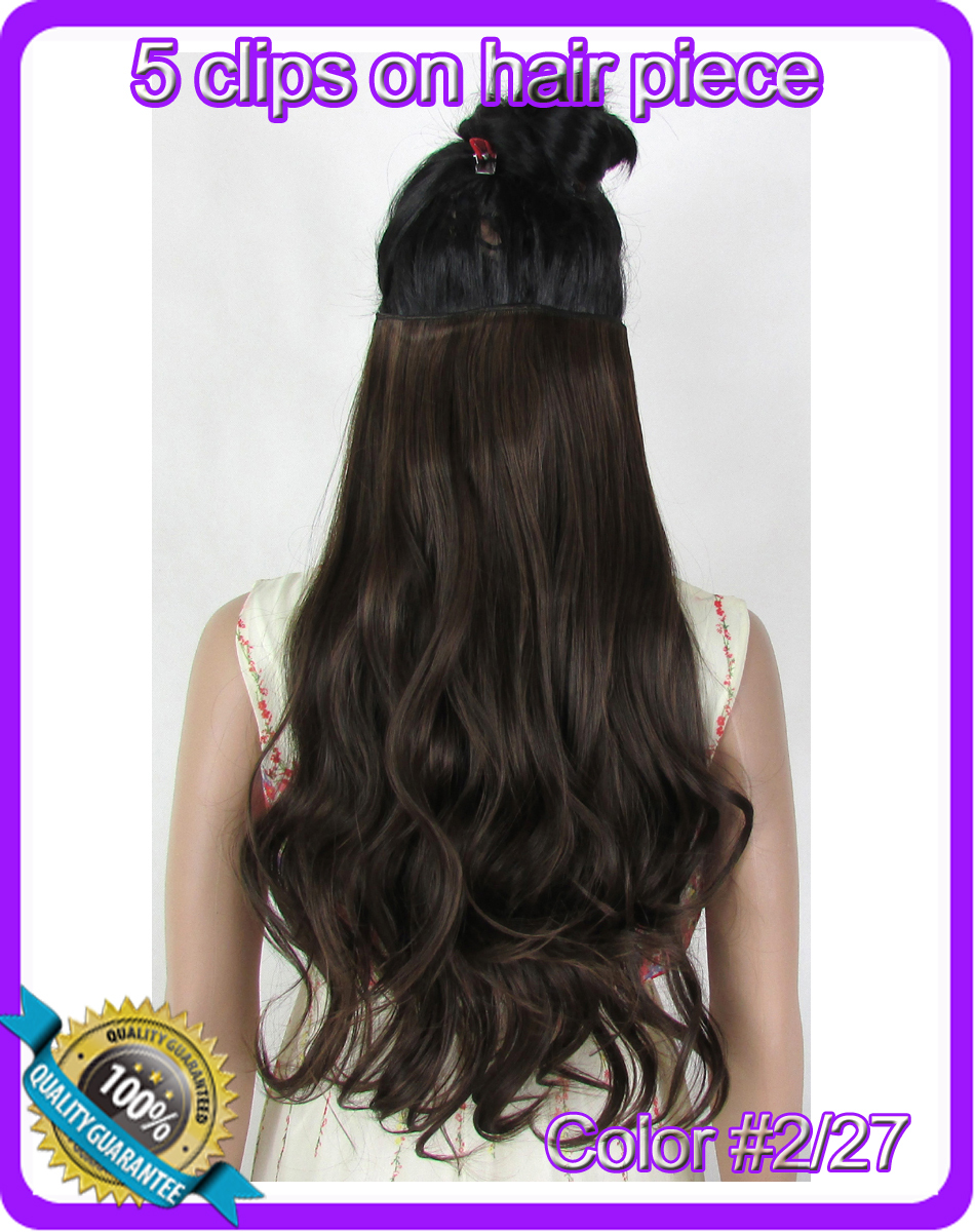 """Гаджет  24""""(60cm) 120g body wave clip in hair extensions hairpiece hair pieces accessories color #2/27 Mix colors None Волосы и аксессуары"""