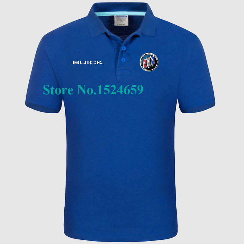Women and men's summer 4S Buick car repair shop overalls customized POLO shirt lapel work clothes custom(China (Mainland))