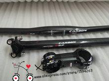 2014 carbon handlebar set mtb bicycle handlebar+seatpost+stem=1 lot bike parts