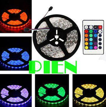 RGB led tape 5050 RGB LED Strip light 5m 300 leds Waterproof luz tiras ruban for garland 12V +Remote Controller Free Shipping