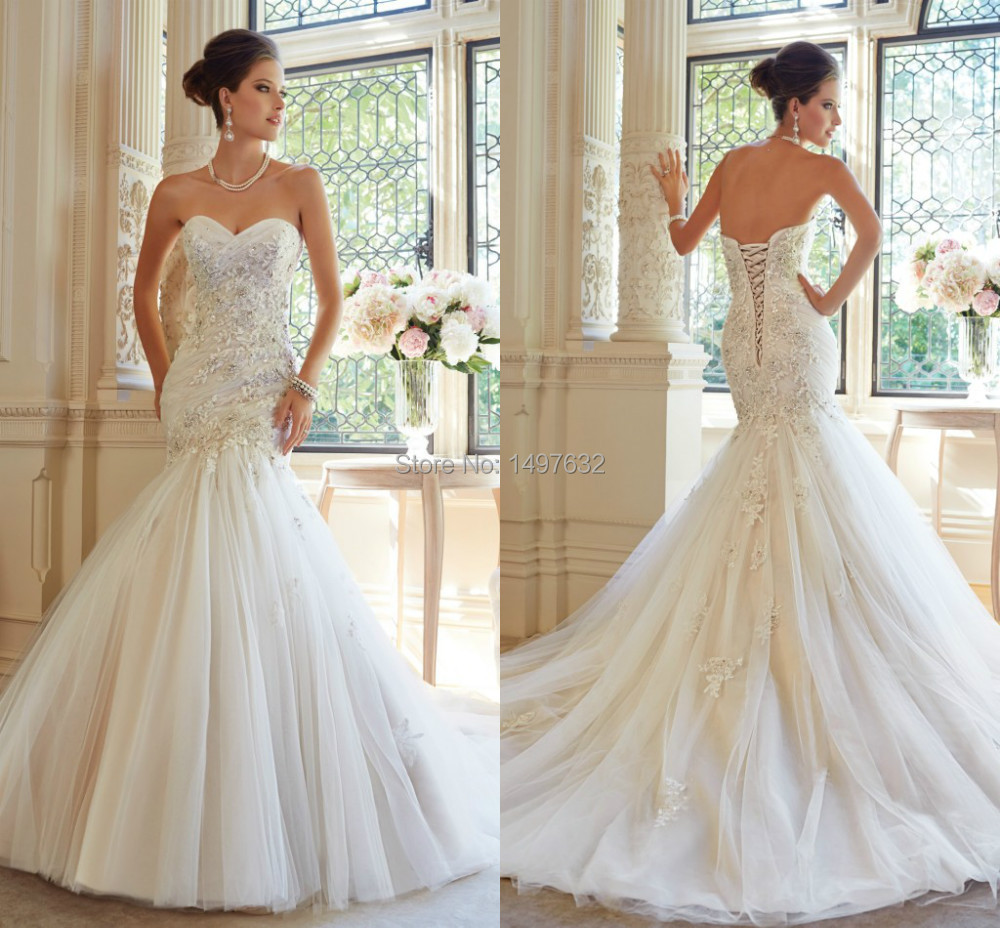 Popular heart shaped strapless dress buy cheap heart for Heart shaped mermaid wedding dresses