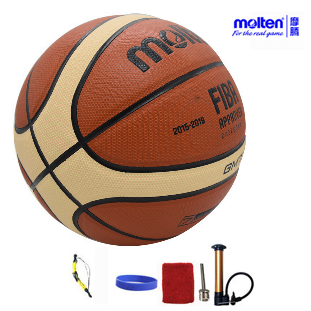 Original Molten Basketball Ball GM7X BGM7X 2017 NEW High Quality PU Leather Size 7 indoor Basketball With ball Net+Pin+Needle(China (Mainland))