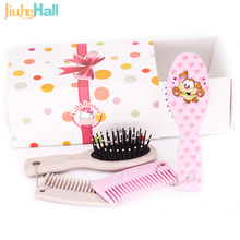 2Pcs/Set 2016 New Kids Baby Hair Brush Infant Comb Head Massager For Boys and Girls Brush & Comb Set  Mini Order 2 Sets WK004(China (Mainland))
