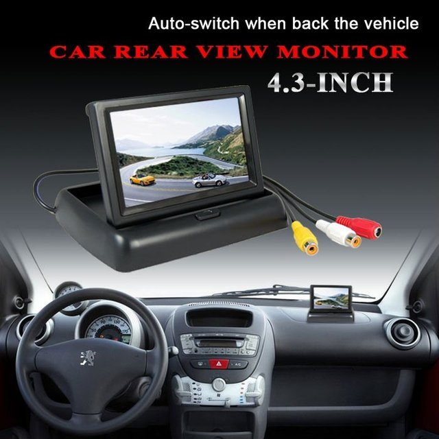 "4.3""  Folded Car Color Monitor free shipping"