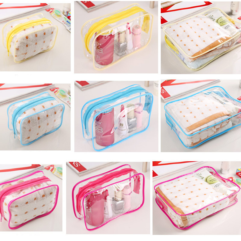 New Transparent Cosmetic Travel Bag Women Makeup Organizer PVC Washing Bags Zipper Pouch Popular(China (Mainland))