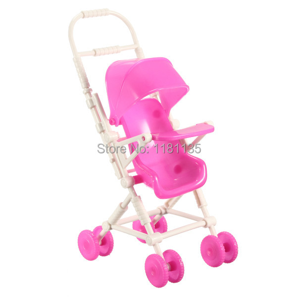 New DIY Assemble Baby Carriage Stroller Trolley Doll Furniture Happy Family For Barbie For Kelly(China (Mainland))